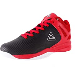 PEAK Kids Basketball Shoes TP9 Boys Retro High Top Outdoor Sneaker Wide Durable Sport Trainer for Teenagers and Youth