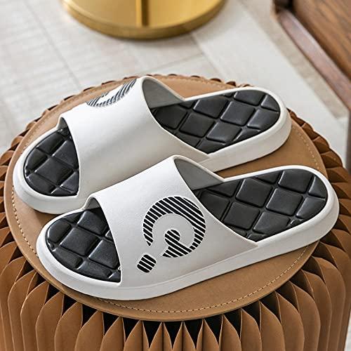 Zapatillas Casa Mujer Hombre Zapatillas de baño Antideslizantes de Interior para el hogar de Verano para Mujer Sandalias con Plataforma de casa para Hombres Chanclas para Parejas Blancas EU41-42