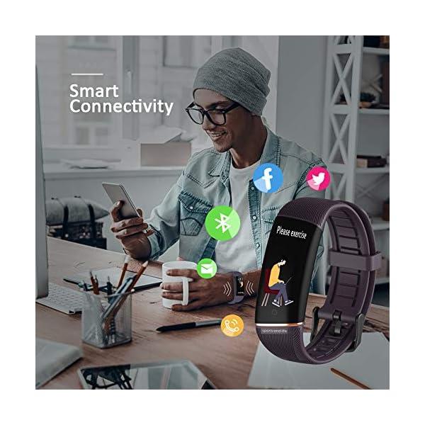 Byttron Fitness Tracker, Reloj Impermeable de Seguimiento de Actividad con Monitor de frecuencia cardíaca, Monitor de… 3