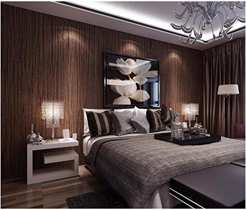 Yosot pure kleur 3D-fijn gestreept vliesbehang eenvoudig modern slaapkamer woonkamer behang achtergrond bruin