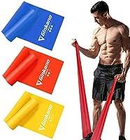 Haquno elastico fitness (3 pezzi)1.5M /1.8M /2M,con 3 livelli di resistenza, è ideale per yoga, pilates, allenamento di...
