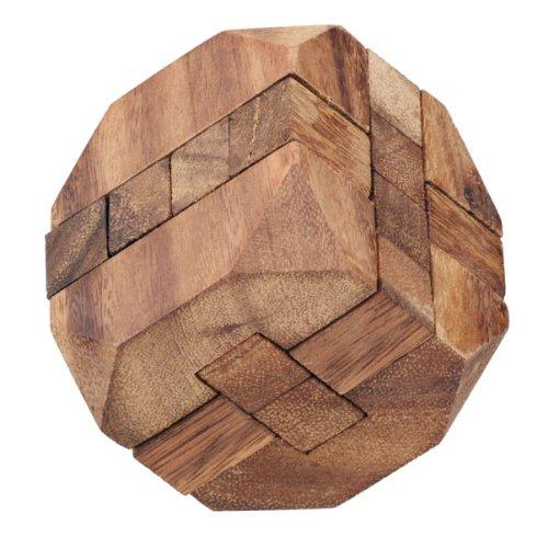 LOGICA GIOCHI Art. Diamante - Rompicapo 3D in Legno - Difficoltà 4/6 Estremo - Serie da Collezione Leonardo da Vinci