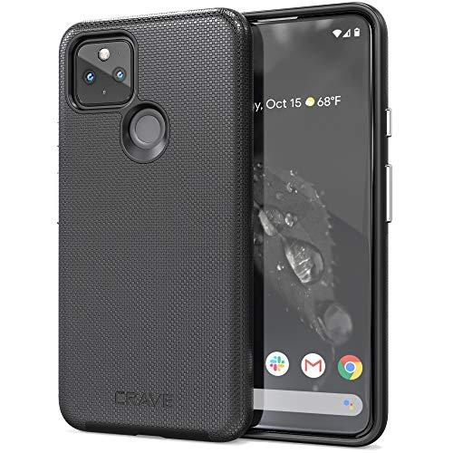 Crave Pixel 4a 5G Hülle, Dual Guard Protection Series Schutzhülle für Google Pixel 4a (5G) – Schwarz
