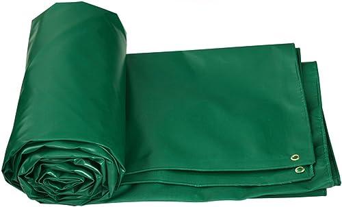 GLJ épaisseur Imperméable Poncho Canopy Bache Extérieure Ombre Tissu Bache Prougeection Solaire Bache Bache Camion Bache Toile bache (Couleur   vert, Taille   6  5m)