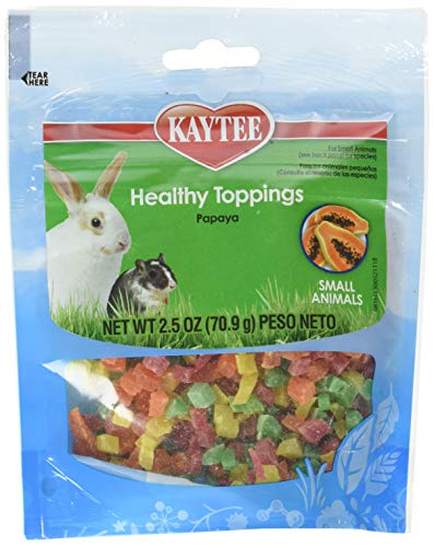 (12 Pack) Kaytee Fiesta Papaya Topping Healthy Treats For Small Animal, 2.5-Ounce Each