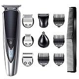 HATTEKER Tondeuse Barbe Tondeuse Cheveux Tondeuse Nez-Oreilles Electrique homme à barbes rasoir Impermeable Pour Couper Barbe