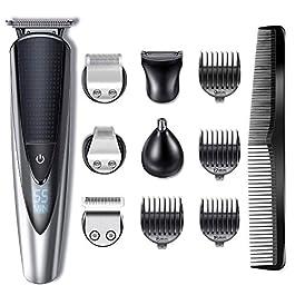 Hatteker Tondeuse Barbe Tondeuse Cheveux Tondeuse Nez-Oreilles Electrique homme à barbes rasoir Impermeable Pour Couper…