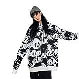 Sudadera con Capucha Mujer Panda Estampado Moda Retro Streetwear Sudadera De Gran Tamaño Manga Larga Adecuado para Reuniones De Turismo Deportivo Al Aire Libre Etc-1_XL