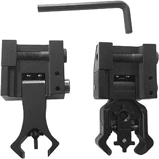 Iron Sights Set, Premium Tactical Diamond Aperture Flip Up Front Rear Aiming Mounts Kit (2Pcs)
