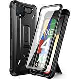 Dexnor Google Pixel 4 XL Case with Screen Protector and Kickstand Heavy Duty 2 in 1 Dual Layer 360 Full Body Protective Rugged Shockproof Defender Bumper Cover Case for Google Pixel 4XL - Black