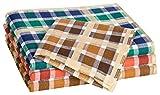 Tobeni 12 Piezas Mujer Pañuelos de Tela 100% Algodón Color Design 6 Tamano 30 cm x 30 cm