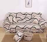 MKQB Funda de sofá de Sala de Estar Moderna y Sencilla, Funda de sofá elástica elástica, Funda de sofá Antideslizante con combinación de Esquina en Forma de L NO.15 XL (235-300cm)