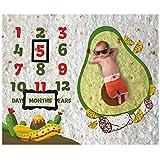 Burrito Baby Month Milestone Blanket for Photo Taken - Avocado Age Blanket