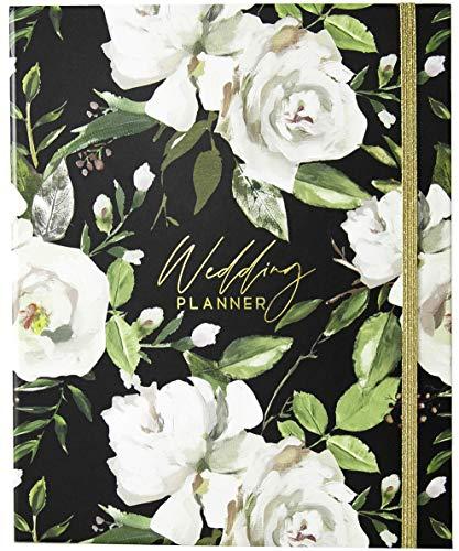 Luxury Wedding Planner | Wedding Organizer Book with Beautiful Souvenir Gift Box | Perfect Wedding Journal for Brides | with Checklists, Calendar, Budget Planning, Guest List | Black & Flowers