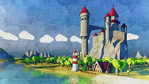 Rompecabezas de 1000 Piezas 50x75cm Castillo de Dibujos Animados Puzzle Rompecabezas para Niños Grande Educativo El Alivio del Estrés Juguete para Adultos Niños