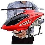WGFGXQ Boy Toy Aircraft Kids Drone Giant Large Outdoor 80CM RC Helicóptero con Gyro LED Light Radio Control Remoto 3.5 Canales Helicóptero Principiante Fácil de operar (Color: Red)