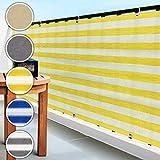 Copri ringhiera da balcone frangivento - design a righe