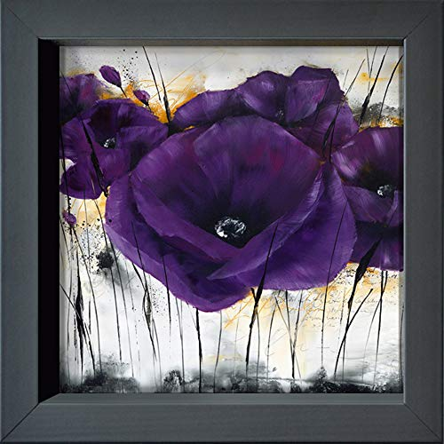 International Graphics - Postal enmarcada - Isabelle, Zacher-Finet - ''Pavot violet III''-...