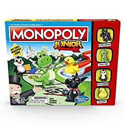 Ideal introduction to Monopoly The game board features child-friendly locations in Monopoly town Children can have fun counting and collecting Monopoly money to win Features Little Scottie, Little T-Rex, Little Penguin and Toy Ducky tokens Quick and ...