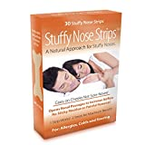 Nasal Strips - Stuffy Nose Strips - GO ON CHEEKS NOT OVER NOSES! INSTANT RELIEF For Allergies, Colds, Flu, Sinus Issues and Snoring. PULLs Open Airways by Over 61% vs 30% for Nose Strips! 30 Ct
