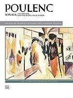 プーランク: 1台4手のためのソナタ(1919年版)/ヒンソン & ネルソン編/アルフレッド社/ピアノ連弾(1台ピアノ4手)