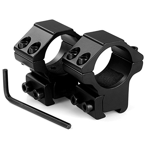 "LIRISY 1"" Scope Mount Low Profile Scope Rings for 11mm Dovetail Rails (2 Pieces)"