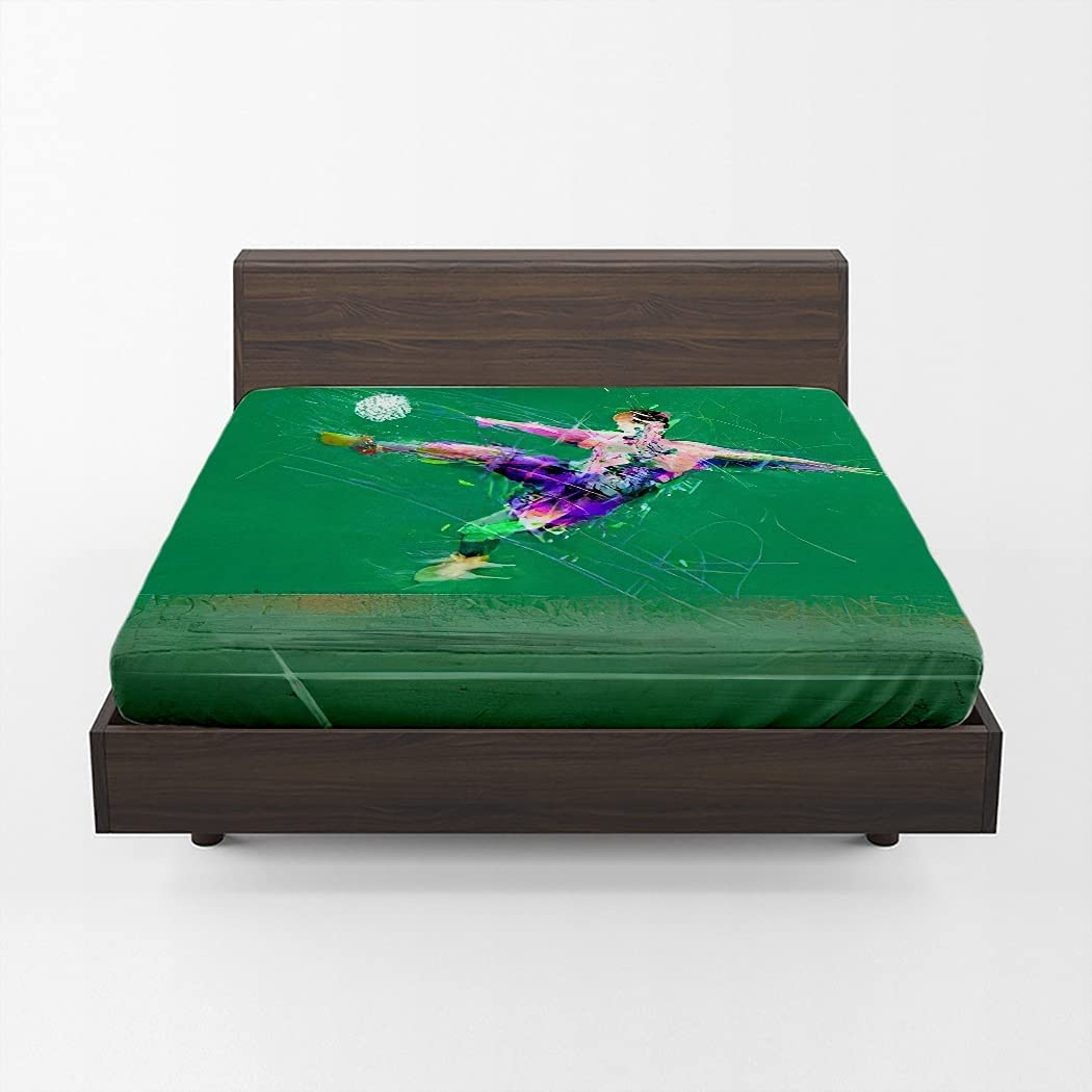 Huipaya Minneapolis Mall 2021 spring and summer new Abstract Player Fitted Soccer Sheet Del