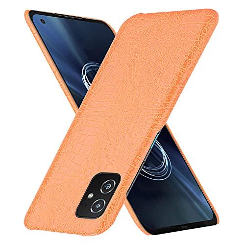 Coque Funda ASUS Zenfone ZS590KS,Textura de cocodrilo Carcasa de telefono para ASUS Zenfone ZS590KS(Naranja)