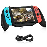 BicycleStore Charging Grip for Nintendo Switch, Comfortable Hand Grips Case Controller Handle Ergonomic Handle...
