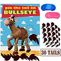 Pin The Tail On Bullseye パーティーゲーム おもちゃにインスパイアされたストーリーパーティー用品 子供の誕生日パーティーゲーム (30テール)
