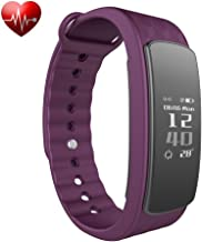 BADIQI Fitness Tracker Watch with Heart Rate Monitor Activity Fitness Band Step Walking Sleep Counter Pedometer IP67 Water Resistance/Bluetooth 4.0 for iPhone Android Smartphone