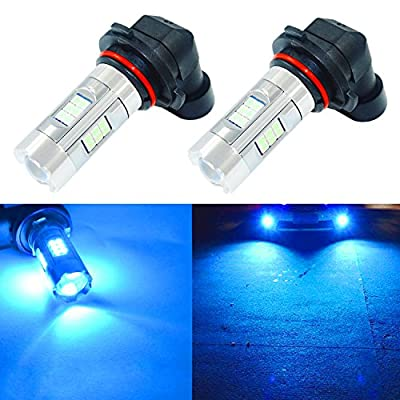 Alla Lighting 3200 Lumens Newest Version H10 9145 LED Fog Light Bulb High Power 3030 27-SMD Extremely Super Bright LED 9145 Bulb for 9140 9145 H10 9040 LED Fog Light Bulbs, 8000K Ice Blue (Set of 2)