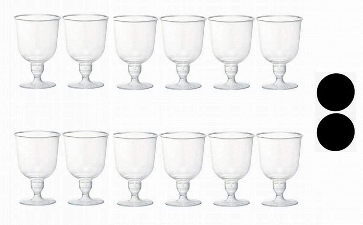 特性罪インスタンス旭化成パックス プラスチック 軽量 ワイングラス 12個 コースター 2枚セット < 使い捨て キャンプ や アウトドア に最適 > Cl-12