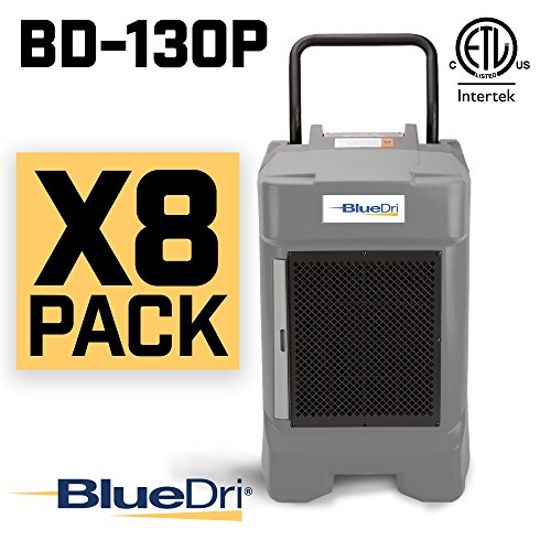 Read About BlueDri BD-130P 225PPD Industrial Commercial Dehumidifier with Hose for Basements in Home...