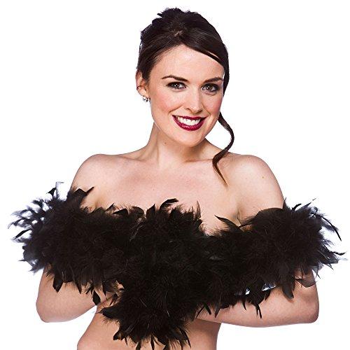 Black Feather Boa Ladies Burlesque Fancy Dress