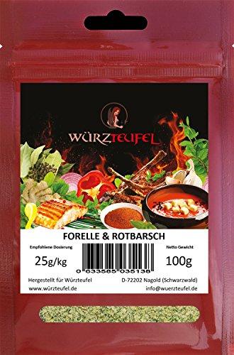 Fischgewürz. Grill - Gewürz für Fisch wie Forelle und Rotbarsch für Grill & Pfanne. Beutel: 100g.