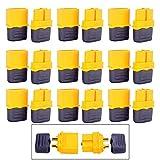 GTIWUNG 10 Pairs 10 Paar XT60 Batterie Anschlüsse, XT60 Männlich Weiblich Stecker Buchse, XT60H Mantelgehäuse Stecker für RC-Modell und mehr (10 Stück XT60H Stecker + 5 Stück XT60H Buchse)