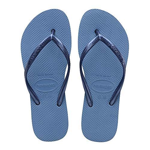 Havaianas Slim Flatform, Chanclas para Mujer, Azul (Blue 0057), 41/42 EU