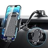 VANMASS Handyhalterung Auto, 3 in 1 Langer Arm Kfz Handyhalterung mit flexiblem Schwanenhals Lüftung & Saugnapf Universale Handyhalter Auto Kompatibel mit Alle Autos & Handys iPhone Samsung Huawei LG
