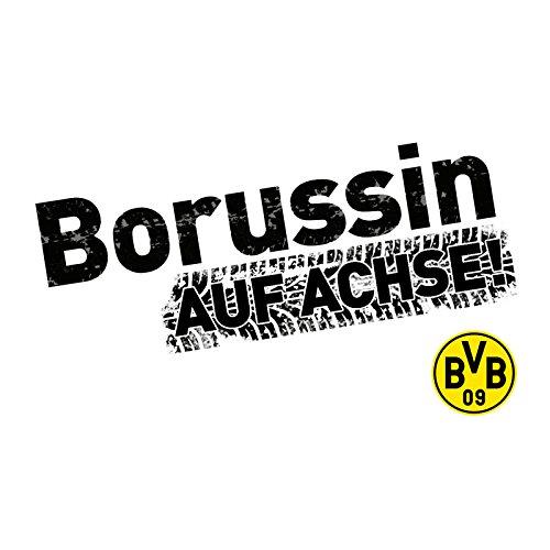 BVB 16140500 Autoaufkleber Borussin, schwarz/Gelb, one Size