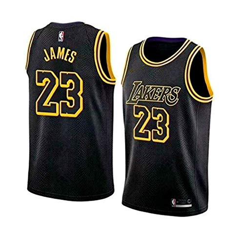 LinkLvoe Maglia da Uomo - NBA Lakers # 23Lebron James Mesh Basket Swing Jersey di Alta qualità Usura Quotidiana e torneo di Basket