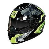 Casco integrale moto One CR7 taglia M, casco motocicletta con calotta termoplastica e visiera interna parasole, casco moto con sistema di areazione KLIMA SYSTEM e con interni removibili e lavabili
