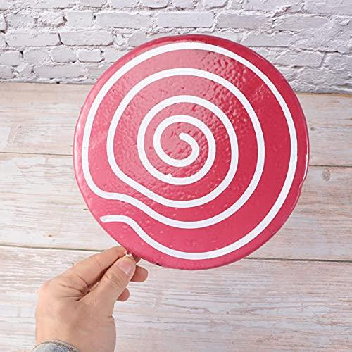 PRETYZOOM Piruleta de Caramelo Utilería Piruletas Palillo de Algodón Falso Rosa Pégalo Decoraciones de Cumpleaños- Modelo de Simulación de Lollipop Tema de Comida- Accesorios FOTOGRÁFICOS