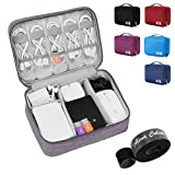 Alena Culian Electronic Organizer Travel Universal Cable Organizer Electronics Accessories Cases for Cable, Charger, Phone, USB, SD Card