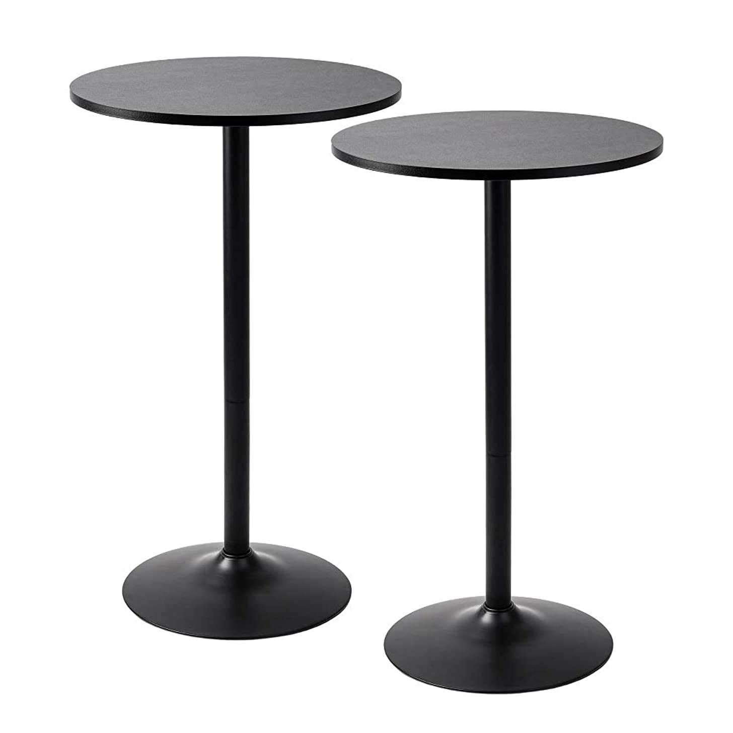 Pearington PEAR-0098 Santina 2 Pack Round Bar and Pub Table, Black