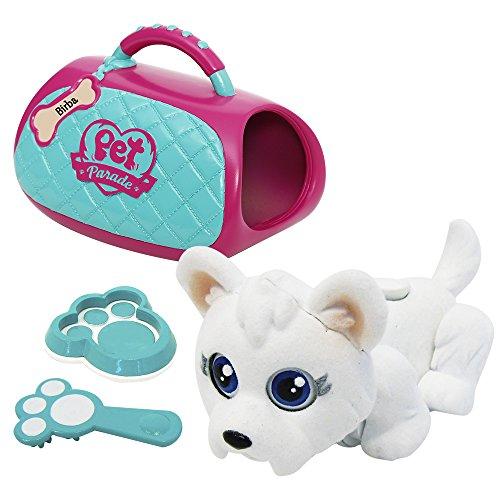 Giochi Preziosi - Pet Parade, Carry Kit con Cucciolo e Portantina, Rosa/Blu
