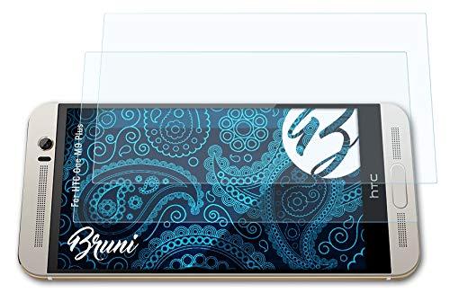 Bruni Schutzfolie kompatibel mit HTC One M9 Plus Folie, glasklare Bildschirmschutzfolie (2X)