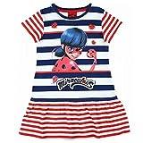 Miraculous Ladybug Robe Fille Manches Courtes - Bleu - 8 Ans