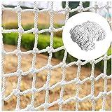 Alaeo Filet de Protection Filet de sécurité en Nylon Corde de Chargement Filet décor Net Protection clôture Escalade tressé Corde Camion pour Rail Balcon Balustrade-4 * 6M Maille 5cm