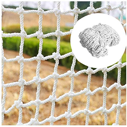 Geweven omheining klimtouw Truck Cargo Trailer netting netto Universal vangnet, wit kind vangnet net decoratieve mesh-netwerken,4 * 4m,3cm mesh